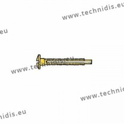 Screw with locking system by nylon thread 1.3 x 2.8 x 11 - gold