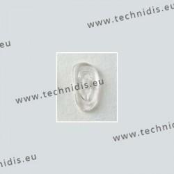 Plaquettes à visser 19 mm asymétriques - silicone - 100 paires