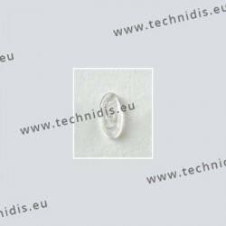Symmetrical screw on nose pads 13 mm - silicone - 20 pairs