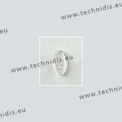 Plaquettes à visser 13 mm symétriques - silicone - 20 paires
