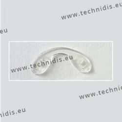 Plaquettes à visser 23,3 mm jumelées - silicone - 5 pièces