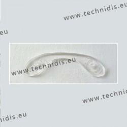 Plaquettes à visser 30,5 mm jumelées - silicone - 5 pièces