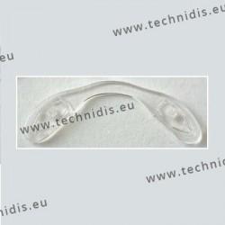 Plaquettes à visser 36,8 mm jumelées - silicone - 5 pièces