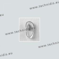 Plaquettes à clipper 15 mm - inserts nickelés - PVC - 10 paires