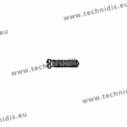 Vis à tête cruciforme avec enduction plastique de la tige 1.4 x 2.0 x 5 - blanc