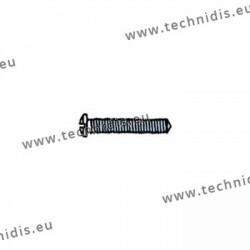 Vis à tête cruciforme avec enduction plastique de la tige 1.4 x 2.5 x 10 - blanc