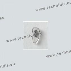 Plaquettes à visser 12 mm - inserts nickelés - PVC - 20 paires