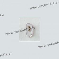 Plaquettes à visser 15 mm - inserts nickelés - PVC - 20 paires