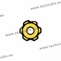Ecrous maillechort étoile standards 1.2x2.2x0.8 - doré