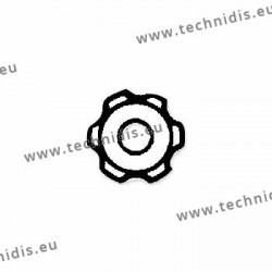 Ecrous maillechort étoile standards 1.4x2.5x1.0 - blanc