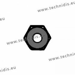 Ecrous maillechort hexagonaux standards 1.4x2.5x1.4 - noir
