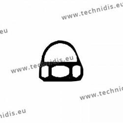 Ecrous maillechort hexagonaux borgnes 1.4x2.5x2.6 - blanc