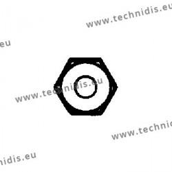 Ecrous laiton hexagonaux standards 1.4x2.2x0.8