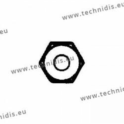 Ecrous de sûreté hexagonaux standards 1.2x2.25x1.5 - blanc