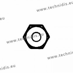 Ecrous de sûreté hexagonaux standards 1.4x2.25x1.5 - blanc