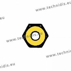 Ecrous de sûreté hexagonaux standards 1.4x2.25x1.5 - doré