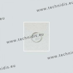 Round solid nose pads 9.5 mm - PVC - 10 pairs