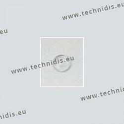 Plaquettes monobloc rondes 9,5 mm - PVC - 10 paires