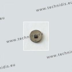 Plaquettes à visser en titane 8 mm - aspect titane