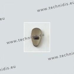 Plaquettes à visser en titane 12 mm - aspect titane