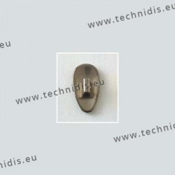 Clip on titanium nose pads 12 mm - titanium colour