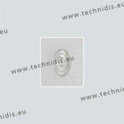 Plaquettes type Primadonna 13 mm - PVC - 5 paires