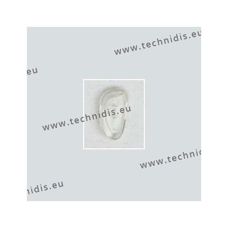 Plaquettes type Primadonna 17 mm - PVC - 5 paires