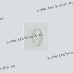 Plaquettes type Primadonna 13 mm - silicone - 5 paires