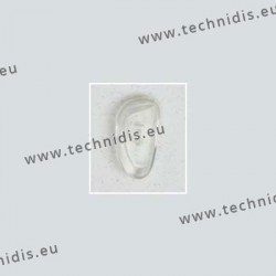 Plaquettes type Primadonna 17 mm - PVC - 20 paires