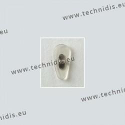 Plaquettes type B+L 15 mm - acétate - cristal - 5 paires