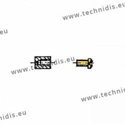 Accessoires de montage pour monture métal - Doré