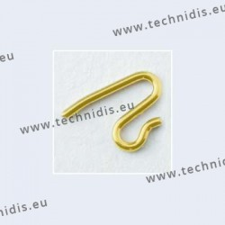Nose pad arms for solid nose pads - gold plated