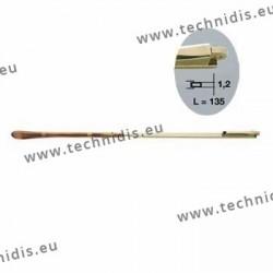 Branches en maillechort - Doré - Embouts jaspés - Tenon 1,2 mm