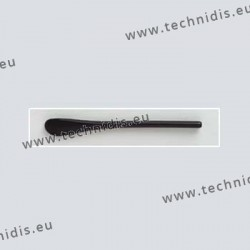 Cylindrical temple tips - black