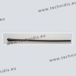 Long temple tips - symmetrical end - black - drilling diameter 1.05 mm