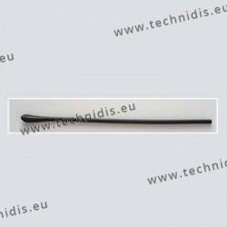 Embouts longs - spatule symétrique - noir - Ø perçage 1,05 mm