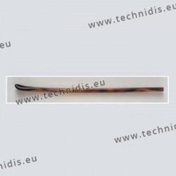 Embouts longs - spatule symétrique - jaspé - Ø perçage 1,45 mm