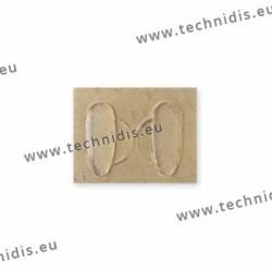 Plaquettes autocollantes 17 mm en silicone