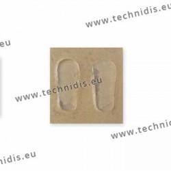 Plaquettes autocollantes 19 mm en silicone
