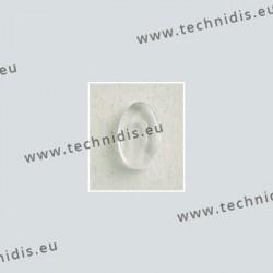 Plaquettes type Silhouette 12 x 7,4 mm - acétate - 5 paires