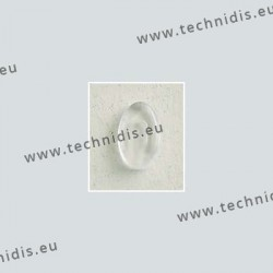 Plaquettes type Silhouette 12 x 7,4 mm - acétate - 20 paires