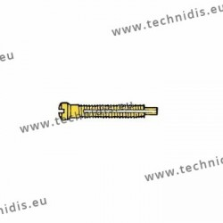 Screw with locking system by nylon thread 1.4 x 1.8 x 11 - gold