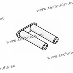Cavaliers plastique 7 mm - montage métal - 100 pièces