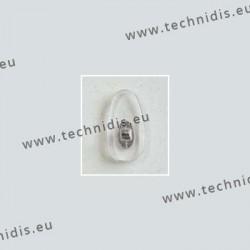 Plaquettes à visser 17,6 mm - inserts nickelés - PVC - 100 paires