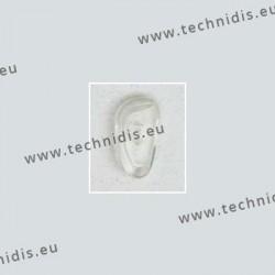 Plaquettes type Primadonna 17 mm - PVC - 100 paires