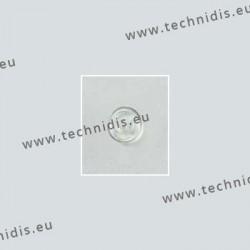 Plaquettes type Primadonna 9 mm - silicone - 100 paires