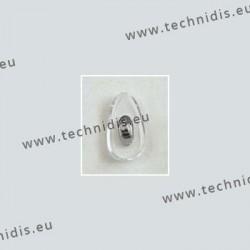 Plaquettes à visser 15 mm - inserts nickelés - PVC - 100 paires