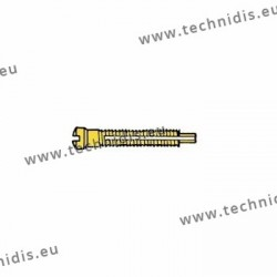 Screw with locking system by nylon thread 1.5 x 1.8 x 11 - gold