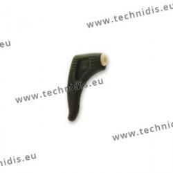 Crochets de sécurité en silicone avec blocage - Noir