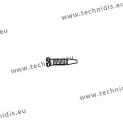 Vis auto-centreuses avec enduction plastique de la tige 1.2 x 2.0 x 4.0 – blanc